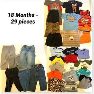 Boy Toddler 18 Months 29 Piece Clothing Lot